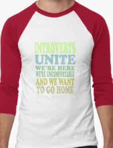 Introverts Unite Men's Baseball ¾ T-Shirt