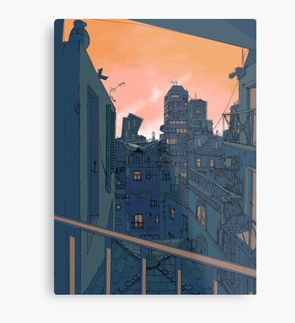 Cityscape in the Evening Metal Print