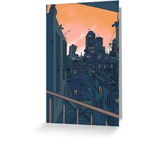Cityscape in the Evening Greeting Card