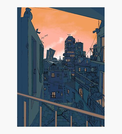 Cityscape in the Evening Photographic Print