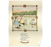 Rose Buds Virginia Gerson 1885 0023 Croquet Poster