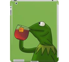 Kermit sipping tea (Redesign) iPad Case/Skin
