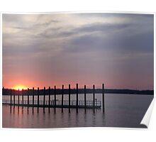 Quiet At Sunset, Shark River, New Jersey USA Poster
