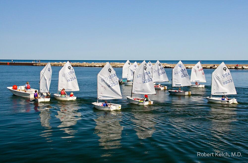 Junior Sailing Club, Lake Macatawa Yacht Club, Holland, MI by Robert Kelch, M.D.