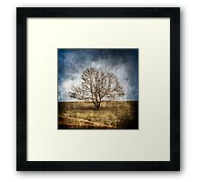 "Tree on Hill ""Textured"" Framed Print"