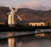 Early light softly rendering the windmill  by Paul Woods