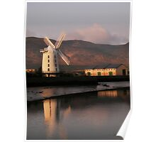 Early light softly rendering the windmill  Poster