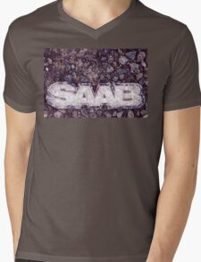 Saab Mens V-Neck T-Shirt