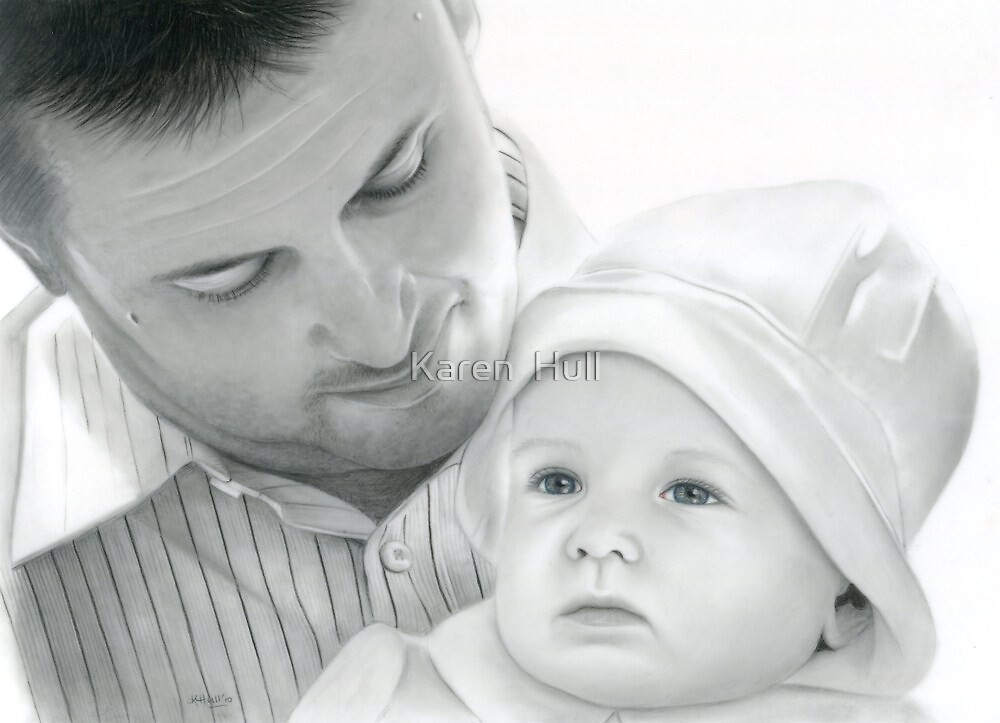 Father and Son by Karen  Hull