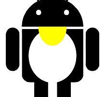 linux Tux penguin android  by SofiaYoushi