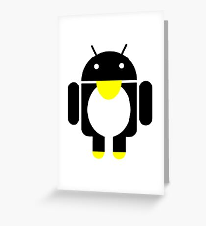 linux Tux penguin android  Greeting Card