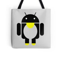 linux Tux penguin android  Tote Bag