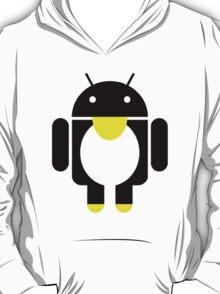 linux Tux penguin android  T-Shirt