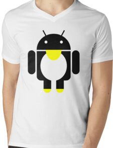 linux Tux penguin android  Mens V-Neck T-Shirt