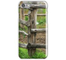 Wooden Fence on a Farm iPhone Case/Skin