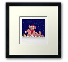 Christmas pigs for throw pillows Framed Print