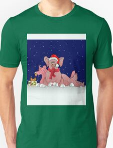 Christmas pigs for throw pillows Unisex T-Shirt