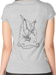 Black Pterodactyl Women's Fitted Scoop T-Shirt