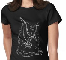 White Pterodactyl Womens Fitted T-Shirt