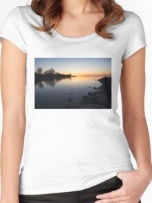 A Quiet Sunrise - Toronto, Lake Ontario Women's Fitted Scoop T-Shirt