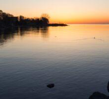 A Quiet Sunrise - Toronto, Lake Ontario Sticker