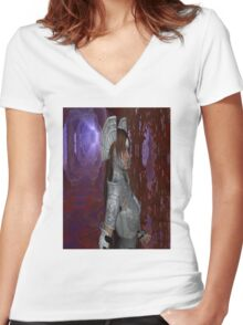 Lost in the Labyrinth  Women's Fitted V-Neck T-Shirt