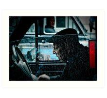 the taxi driver Art Print