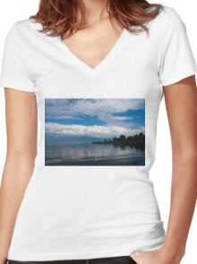 A Perfect Summer Day - Lake Ontario in Toronto, Canada Women's Fitted V-Neck T-Shirt