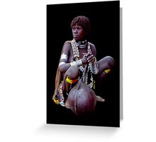 LADY WITH GOURD - ETHIOPIA Greeting Card