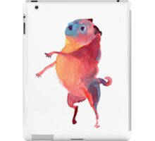 Pink Talker Pug Art iPad Case/Skin