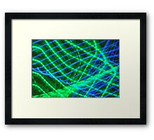 Blue and Green Web Framed Print