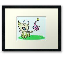 Celebi meets Flying Pikmin Framed Print