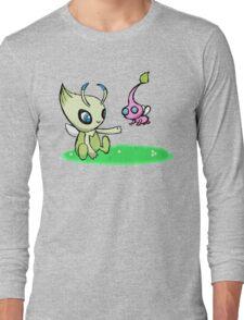 Celebi meets Flying Pikmin Long Sleeve T-Shirt
