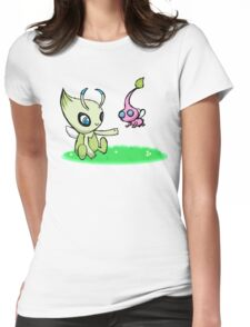 Celebi meets Flying Pikmin Womens Fitted T-Shirt