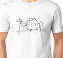 Drum kit drawing Unisex T-Shirt
