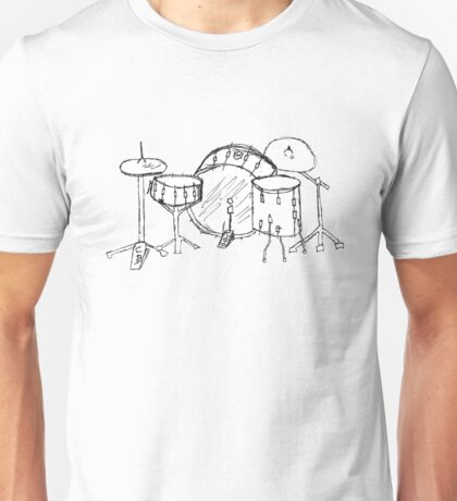 Drum kit drawing Unisex T-Shirt