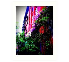 apartments overgrown with beauty Art Print