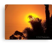 Orange morning sky from wildfire, 10/23/2007 7:30 am, Carlsbad, California Canvas Print