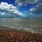 High tide at Deal beach by John Gaffen