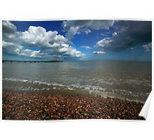 High tide at Deal beach Poster