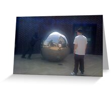 Mirror mirror on the ball who is the fairest of them all.. Greeting Card