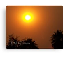 Orange morning sky from wildfire, 10/23/2007 9:30 am, Carlsbad, California Canvas Print