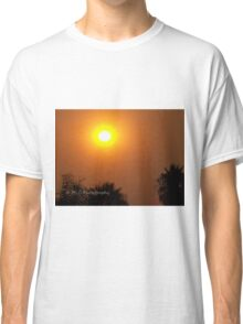 Orange morning sky from wildfire, 10/23/2007 9:30 am, Carlsbad, California Classic T-Shirt