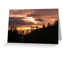 Pacific Northwest Sunset Greeting Card