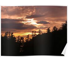 Pacific Northwest Sunset Poster
