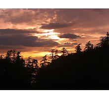 Pacific Northwest Sunset Photographic Print