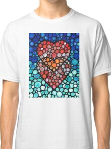 Two Hearts - Mosaic Art By Sharon Cummings Classic T-Shirt