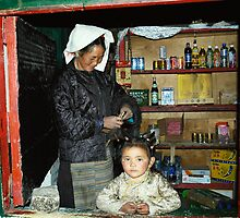 Tibetan Shopkeeper by megsphotos