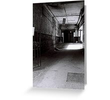 Empty Alley, East London Greeting Card