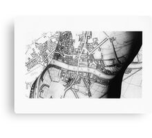 Body Maps - Ancient London - Torso Canvas Print